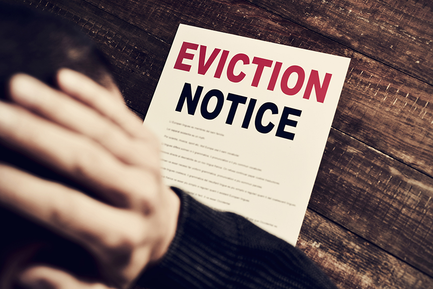 Stock image of an eviction notice