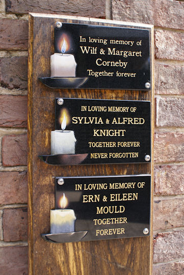 candle plaques