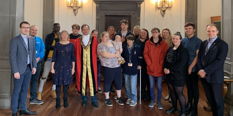 Care leavers meeting the Mayor of Southampton and senior children's services managers