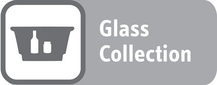 Glass recycling – grey box (no lid) or communal grey lid bin