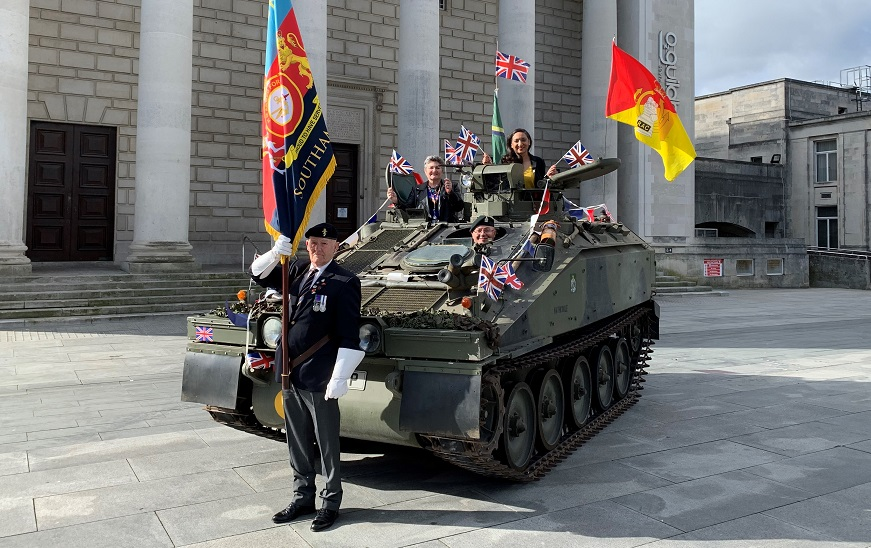 Councillors in a tank