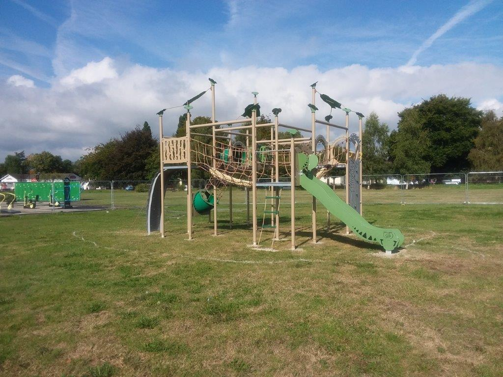 New play equipment at Mansel Park