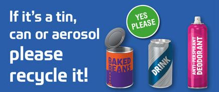 If it's a tin, can or aerosol, please recycle it!