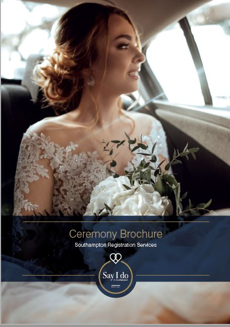 Wedding brochure front cover