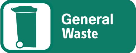 General waste – green lid bin or sacks
