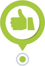 Icon showing a thumbs-up