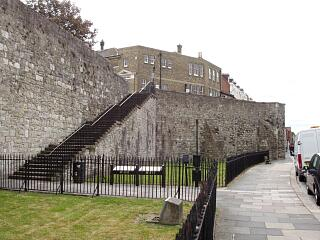 Forty Steps, town wall and Garderobe Tower, Western Esplanade, 21.6.09,  © I Peckham