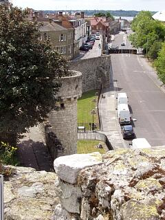 West town wall from top of Arundel Tower, 21.6.09,  © I Peckham