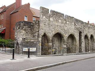 Remains of tower south of former Biddles Gate, and the Arcades, Western Esplanade, 21.6.09,  © I Peckham