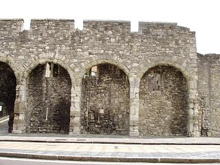 The Arcades, Western Esplanade - arcade and west wall of King John's Palace, 21.6.09,  © I Peckham