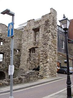 Watergate Tower remains, High Street, 30.8.09 (camera date not set),  © I Peckham