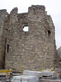 Watergate Tower remains, Town Quay, 30.8.09 (camera date not set),  © I Peckham