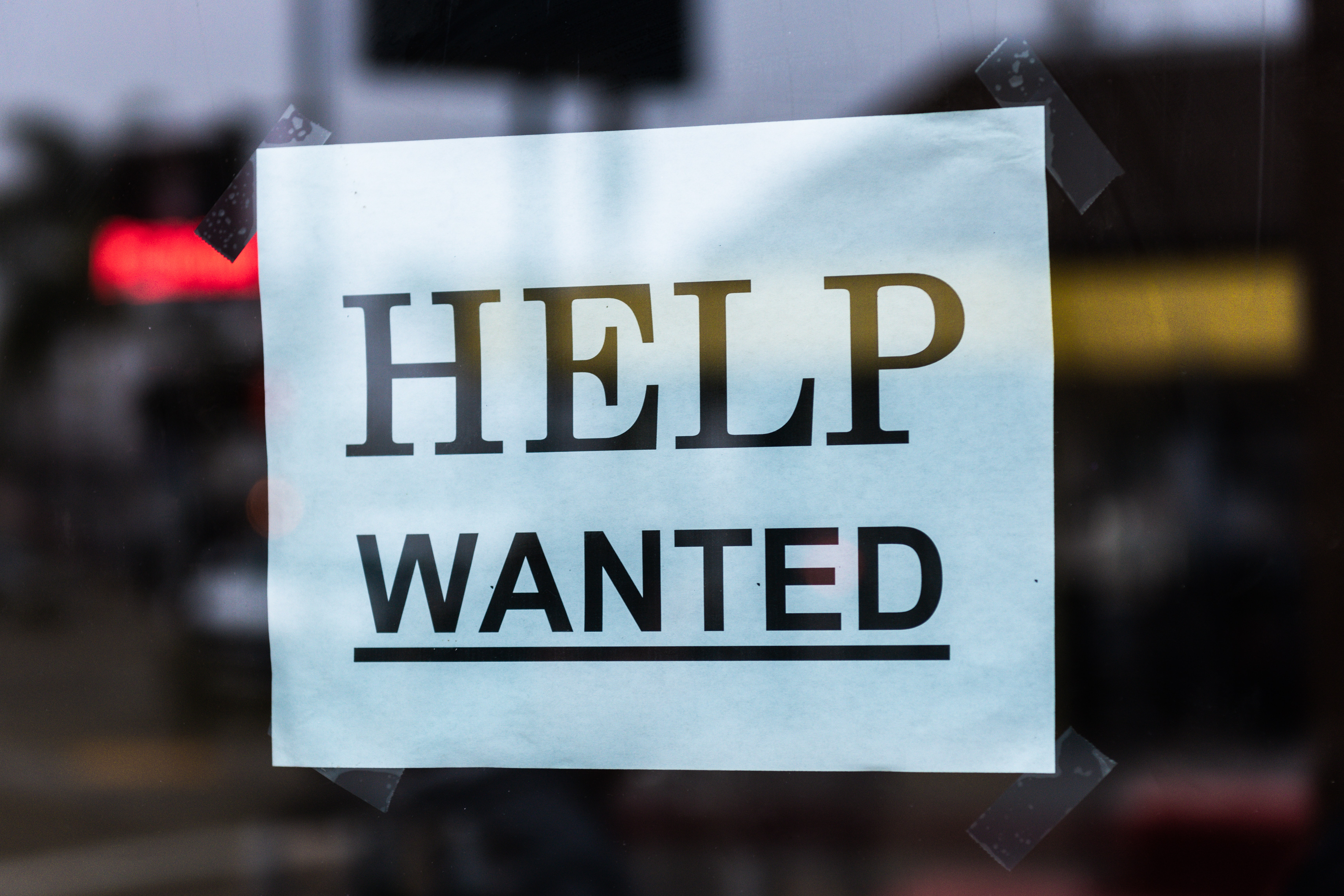 'Help wanted' sign