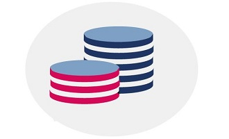Graphic of stacked coins